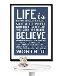 Life Quotes Posters Impressive life is too short' quote print or canvas by i love design