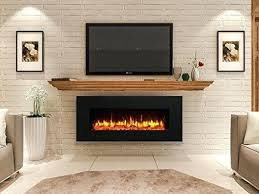 55 built in led wall mount electric fireplace insert inch mounted linear kids room extraordinary log