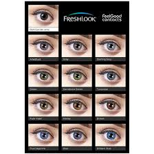 Contact Lenses Colour Chart Freshlook Colorblends
