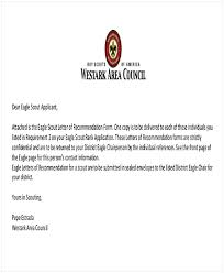 A Letter Of Recommendation Example Eagle Scout Letter Of Recommendation Sample From Parents