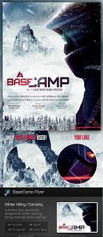 Basecamp - Winter Hiking Flyer Template By Stormdesigns | Graphicriver