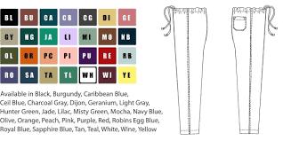 Scrub Color Chart Clearance Unisex Reversible Scrub Pants Unisex Scrub