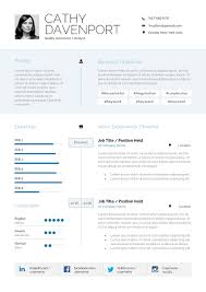 Modern Typographic Resume Set Gallina Chronological Resume W Infographic