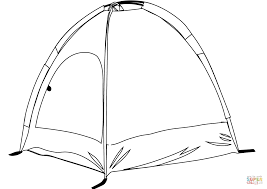 Small Picture Camping Tent coloring page Free Printable Coloring Pages