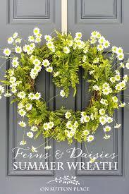 diy easy fern daisy summer wreath add instant curb appeal by making this simple