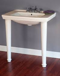 streamlined mid century modern small 31 3 4 wide porcelain console sink