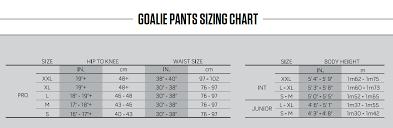 Ccm Goalie Pants Sizing Chart 33 Reasonable Hockey Pants Sizing Chart