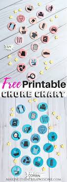 Chore Carts Free Printable Chore Chart Made With Magnetic Shrinky