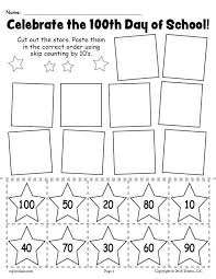 FREE Printable 100th Day of School Skip Counting By 10's Worksheet