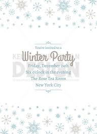 Printable Holiday Invitation Printable Winter Invitation Digital