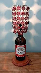 coors light 40 oz oz bottle lamp complete with bottle cap lamp shade by