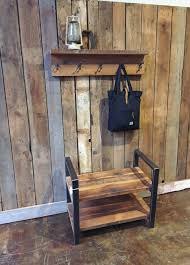 Reclaimed Wood Coat Rack Shelf Magnificent Rustic Reclaimed Barn Wood Coat Rack With Shelf Barn Wood Coat