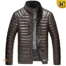 leather down jacket mens cw860035 cwmalls com