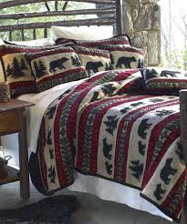 Panda Bear Bedding Set Black Bear Quilt Bedding Bear Quilts ... & Bear Quilts Bedding Bear Adventure Cabin Bedding Black Bear Quilt Bedding  ... Adamdwight.com