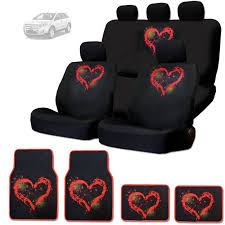 rear car seat covers floor mats set