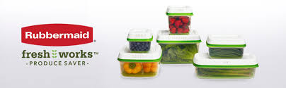 rubbermaid freshworks produce saver food storage container with lid green 3 count com