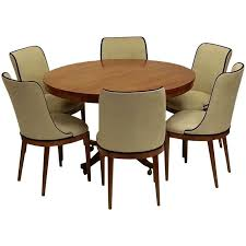 dining room table six chairs art deco dining table and six chairs