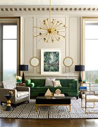 The Living Room Furniture An Emerald Living Room Oasis Complete With Jonathan Adler