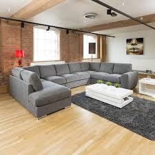 U Shaped Couch Living Room Furniture Extra Large Sofa Set Settee Corner Group U L Shape Grey 40 X