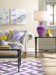 contemporary purple and blue apartment 1