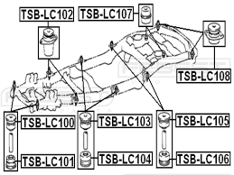 Amazon febest tsb lc102 body bushing automotive