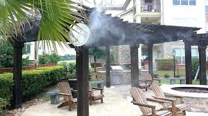 Outdoor Mister Patio Fans Misting System Walmart Misters Home Depot