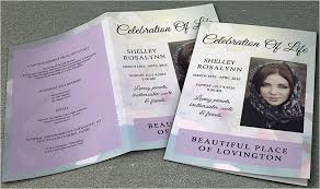 Free Funeral Program Templates For Mac Ozilmanoof Marvelous Free
