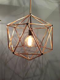 contemporary cage copper pendant light design