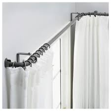 ikea hugad curtain rod bination bay window