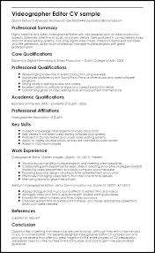 Photoshop Editor Resume Sample Minimal Clear Two Pages Resume