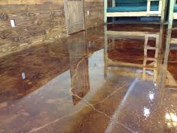 stained cement floors diy concrete stain floors waters edge encampment