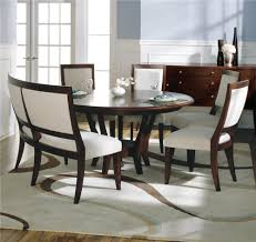 most outstanding mini dining room design sherbrook round table upholstered curved bench side chair small white