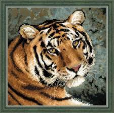 "Набор для вышивания Риолис ""Амурский тигр"" <b>1282</b>, 40 см х 40 ..."