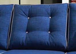 fabric sofas blue. Perfect Blue Contemporary Style Blue Fabric Sofa With Pillow Rolled Arm Inside Sofas T