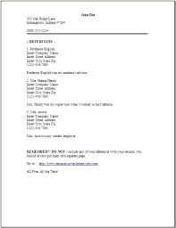 Reference Page For Resume Sample Reference Letter Template Free