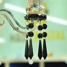 10pcs lot black 55mm crystal icicle u drop prisms crystal chandelier parts pendant glass