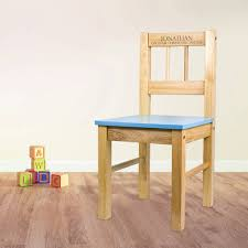 personalised child s wooden chair
