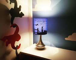Peter pan bedside/reading lamp includes; Peter, Wendy, John and Michael  flying