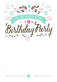 Word Template For Birthday Invitation Invitations For Birthday Party Templates Kylies Ideas