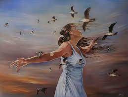 Resultado de imagen de mujer pensando pintura
