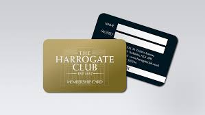 Club Card Design membership card design for The Harrogate Club 平面包装 Pinterest 1