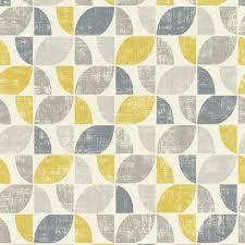 rasch modern art geometric mustard grey