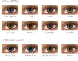 Contact Lenses Colour Chart Fresh Look Colored Contact Lenses Chart 2019