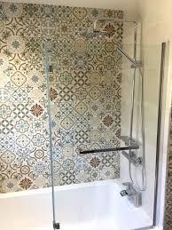 marvelous patterned floor tiles bathroom wall for white