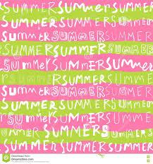 Summer Word List Summer Word Seamless Pattern Background Stock Vector