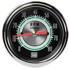 stewart warner cc green line rpm tachometer inch stewart warner 531cc green line 8 000 rpm tachometer 3 3 8