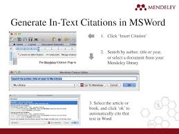 Library Training On Mendeley Reference Manager Ppt Video Online