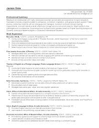 Sample Student Affairs Resume Resume For Study