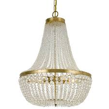 crystorama rylee 6 light antique gold chandelier