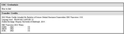 Ubc Gpa Chart Transfer Credits Go Global Student Services